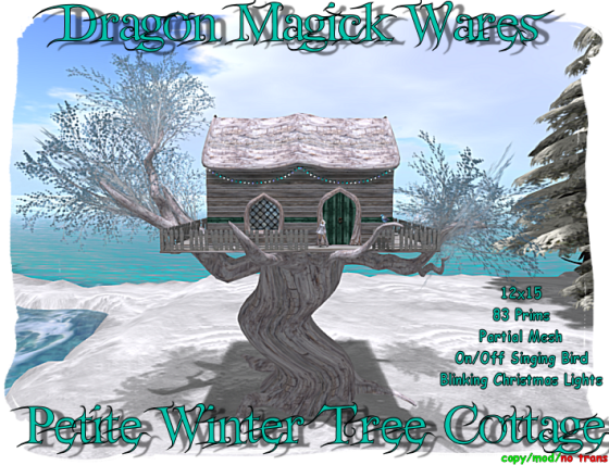 Petite Winter Tree Cottage Ad